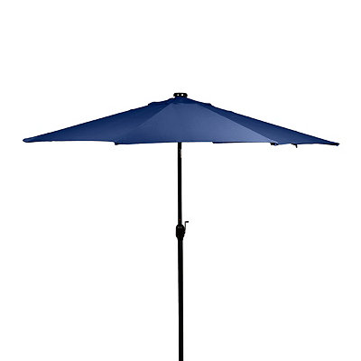 Blue Solar LED Patio Umbrella