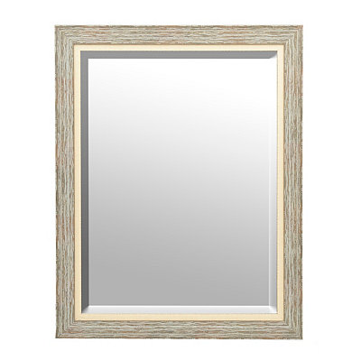 Cottage Blue Barnwood Framed Mirror, 37.5x47.5 in.