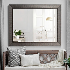 Embossed Graphite Framed Mirror, 37.5x47.5 in.