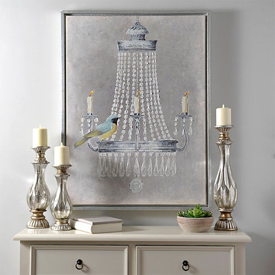 Chandelier Bird Framed Canvas Art