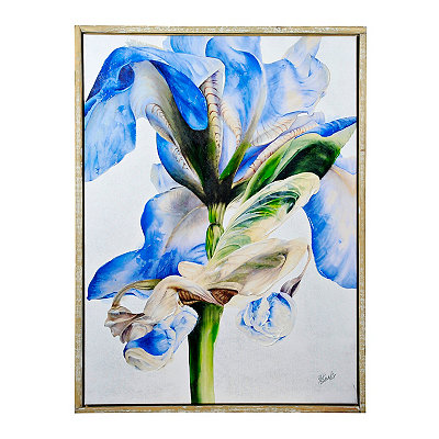 Iris Beauty Framed Canvas Art Print