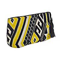 Black and Yellow Aztec Clutch