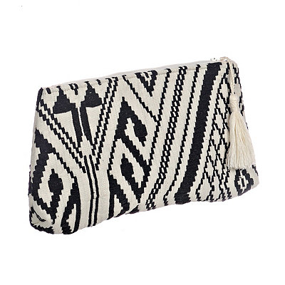 Black and White Aztec Clutch