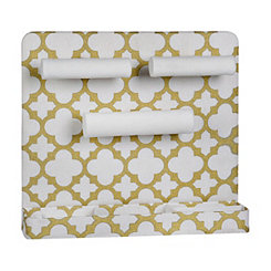 Gold Quatrefoil Wall Mounted Jewelry Organizer