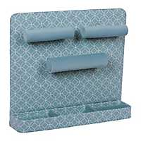Turquoise Lattice Wall Mounted Jewelry Organizer