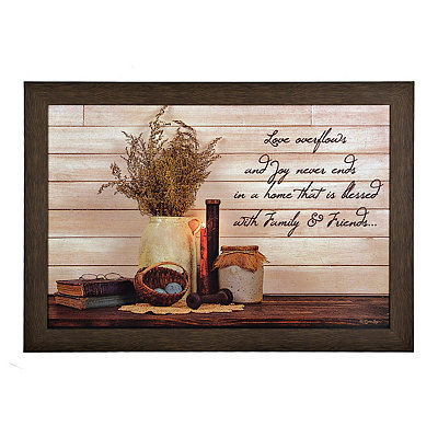 Love Overflows Framed Art Print
