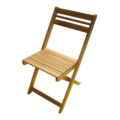 Honey Acacia Wood Folding Chair