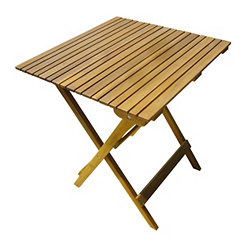 Honey Acacia Wood Folding Table