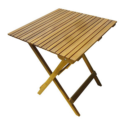 Honey Acacia Wood Folding Table