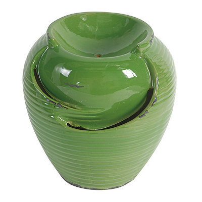 Green Ceramic Electric Water Fountain