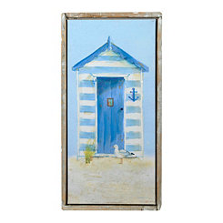 Beach Hut I Framed Canvas Art