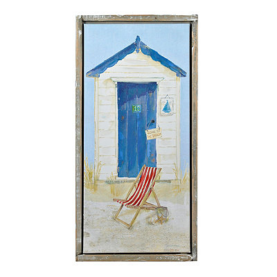 Beach Hut II Framed Canvas Art