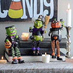 Halloween Monster Shelf Sitters, Set of 3