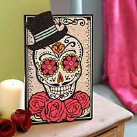 Day of the Dead Gentleman Sugar Skull Easel Plaque