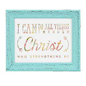 All Things Through Christ Framed Art Print