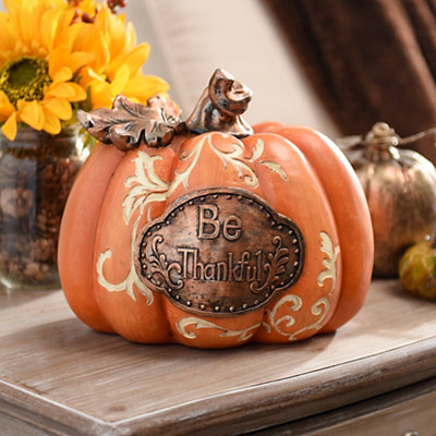 Be Thankful Bronze Accent Pumpkin