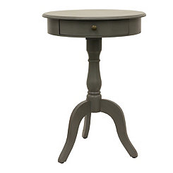 Gray 1-Drawer Pedestal Table