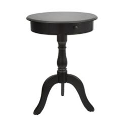 Black 1-Drawer Pedestal Side Table