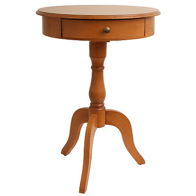 Honey Pine 1-Drawer Pedestal Table