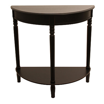 Black Half Moon Console Table