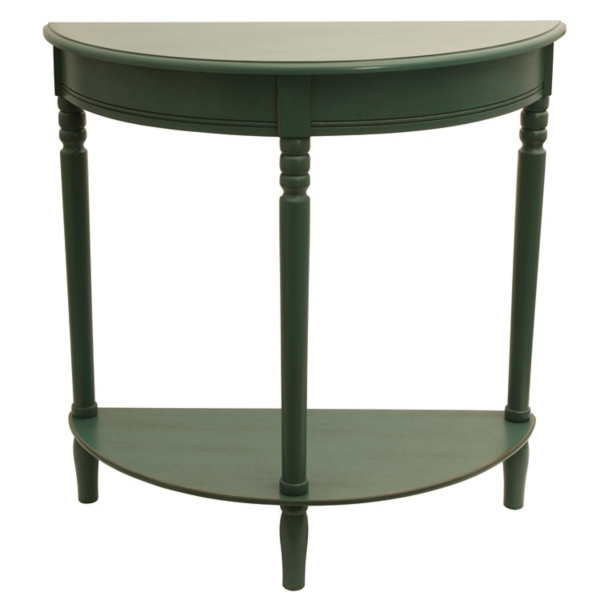 Nice ... Antique Teal Half Moon Console Table ...