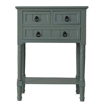 Antique Ice Blue 3-Drawer Console Table