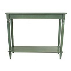 Antique Teal Simplicity Console Table