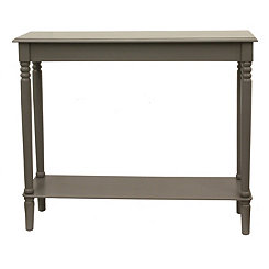 Antique Gray Simplicity Console Table