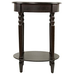 Espresso Simplicity Oval Side Table