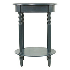 Antique Navy Simplicity Oval Side Table