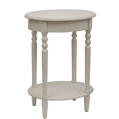 Antique White Simplicity Oval Side Table
