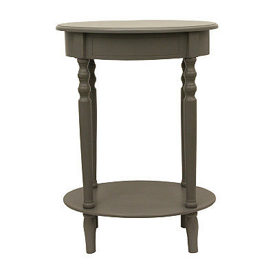 Antique Gray Simplicity Oval Side Table