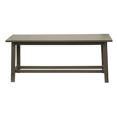 Antique Gray Wooden Bench
