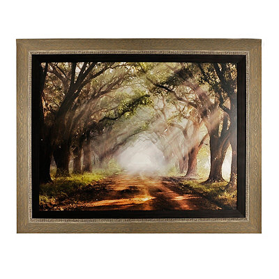 Evergreen Plantation Woodtone Framed Art Print