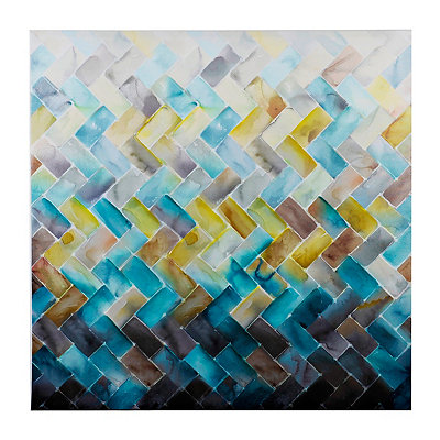 Chevron Tile Canvas Art Print