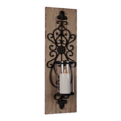 Catalina Wood and Metal Sconce