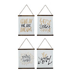 Black and Gold Sentiment Wall Hangers
