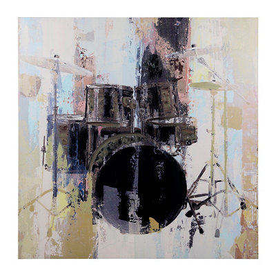 Abstract Drums Canvas Art Print