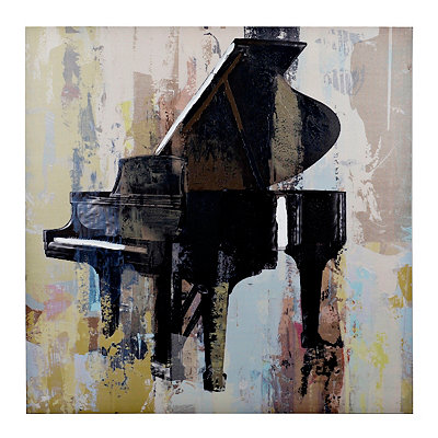 Abstract Piano Canvas Art Print