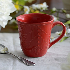 Red Fancy Scroll Mug
