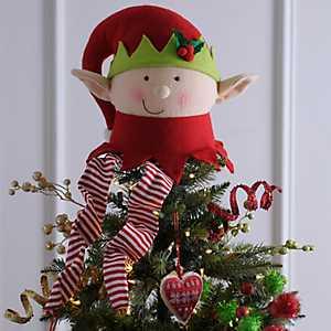 Elf Head Tree Topper