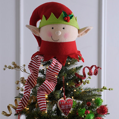 Elf Head Tree Topper
