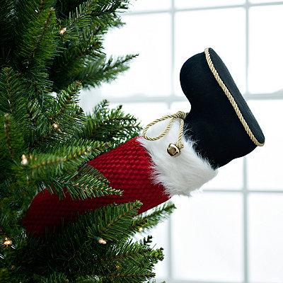 Fabric Santa Leg Pick