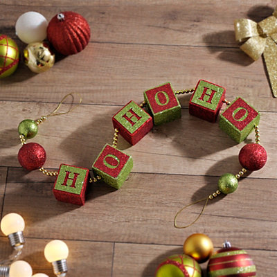 Ho Ho Ho Word Block Garland