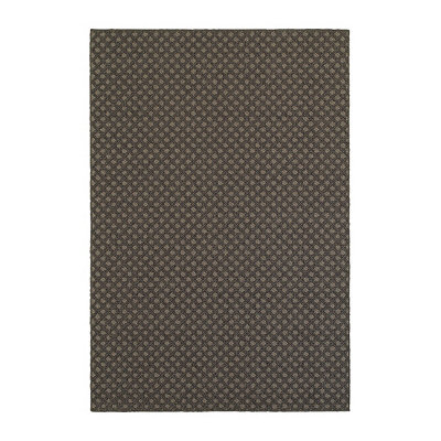 Charcoal Diamonds Finn Area Rug, 5x8