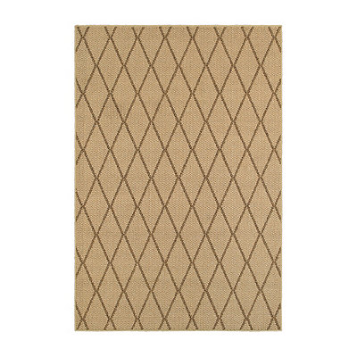 Natural Diamond Trellis Finn Area Rug, 7x10