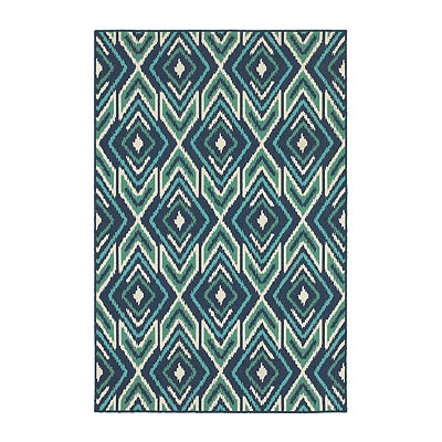 Ikat Diamonds Jenn Area Rug, 5x8