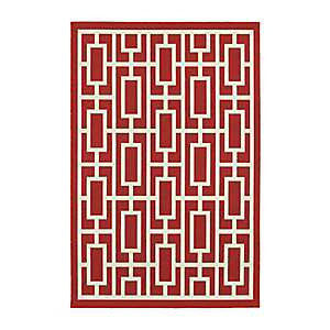 Geometric Trellis Jenn Area Rug, 5x8