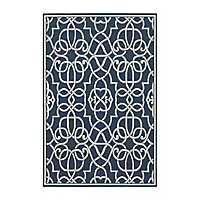 Blue Scrolled Gate Jenn Area Rug, 7x10