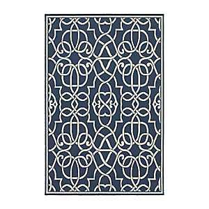 Blue Scrolled Gate Jenn Area Rug, 7x10